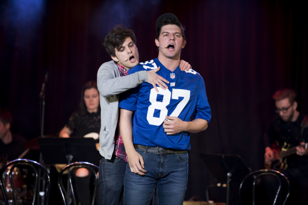 <p>Alex Boniello and Brian Muller in a song from the show.</p><br />(© Jenny Anderson)