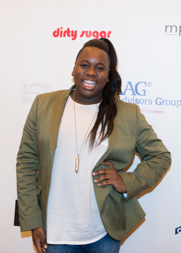 <p>Alex Newell is thrilled to be on hand.</p><br />(© Allison Stock)