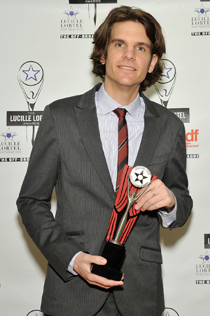 <p>Alex Timbers was named Outstanding Director for his production of <em>Here Lies Love</em>.</p><br />(© Getty Images)