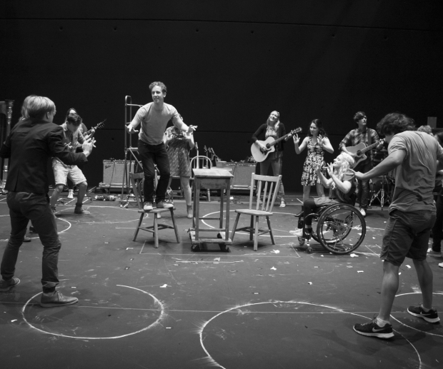 <p>Alex Wyse takes center stage during &quot&#x3B;Touch Me.&quot&#x3B;</p><br />(© David Gordon)