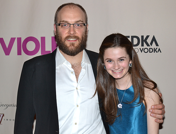 <p>Alexander Gemignani and Emerson Steele play father and daughter in the musical.</p><br />(© David Gordon)