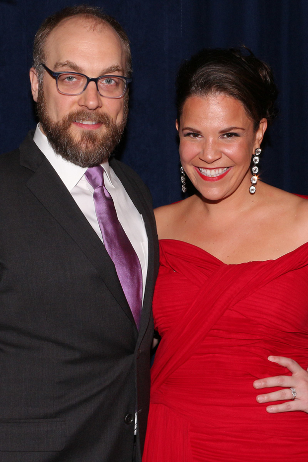 <p>Alexander Gemignani is Enoch Snow to Lindsay Mendez&#39&#x3B;s Carrie Pipperidge.</p><br />(© David Gordon)