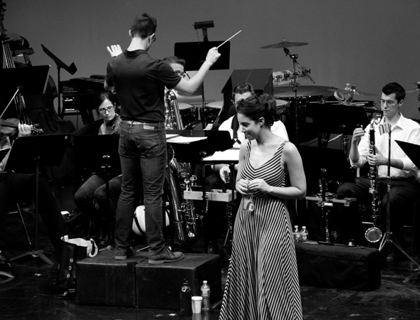 <p>Alexandra Silber, after rehearsing the reprise of &quot&#x3B;Goodnight, My Someone.&quot&#x3B;</p><br />(© David Gordon)
