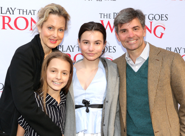 <p>Ali Wentworth, George Stephanopoulos, and their daughters have a night out on Broadway.</p><br />(© David Gordon)