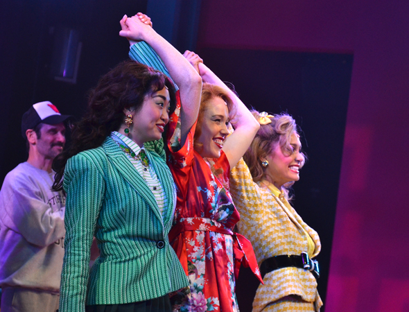 <p>Alice Lee, Jessica Keenan Wynn, and Elle McLemore take their bow.</p><br />(© David Gordon)