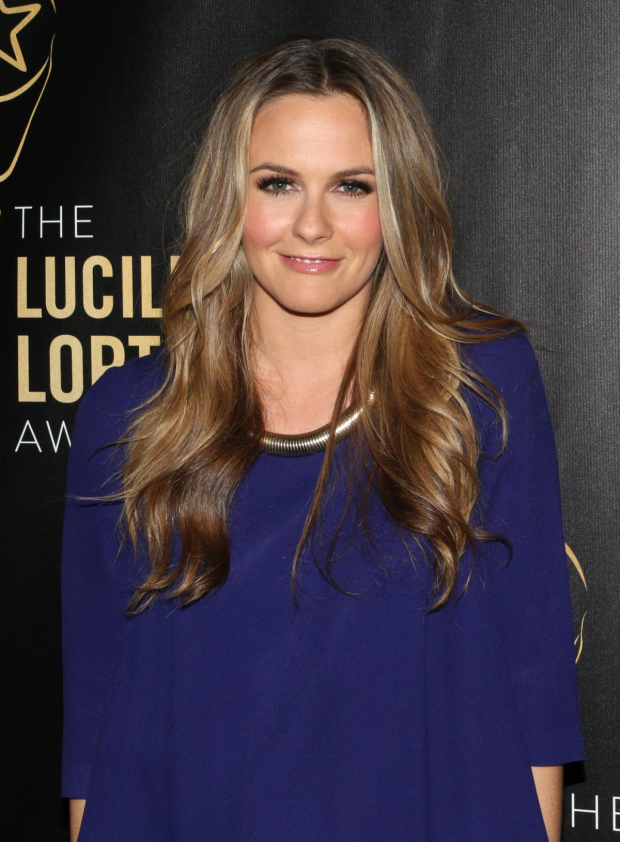 <p>Alicia Silverstone presented the award for Outstanding Play to <em>Between Riverside and Crazy</em>.</p><br />(© David Gordon)