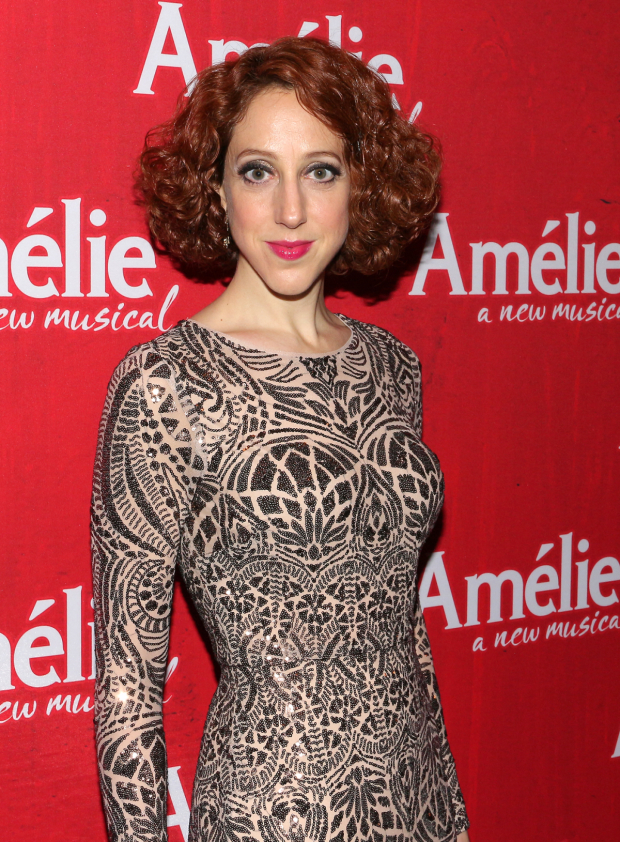 <p>Alison Cimmet poses for a photo after the show.</p><br />(© David Gordon)