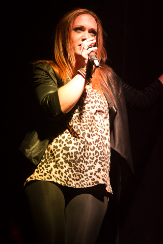 <p>Alison Cusano was one of the many to sing with Rock-N-Roll Debauchery.</p><br />(© Seth Walters)