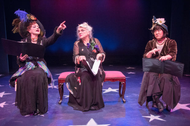 <p>Alison Fraser, Tyne Daly, and Ann Harada share the stage.</p><br />(© Ben Strothmann)