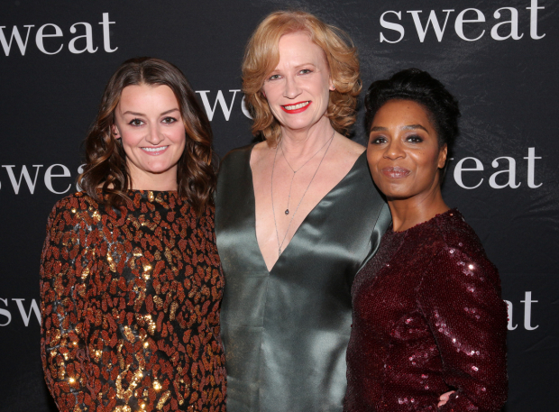<p>Alison Wright, Johanna Day, and Michelle Wilson head the cast of <em>Sweat</em>.</p><br />(© David Gordon)