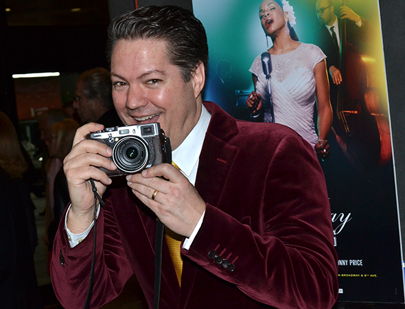 <p><em>All the Way</em> star Robert Petkoff takes his own photos to commemorate the evening.</p><br />(© David Gordon)