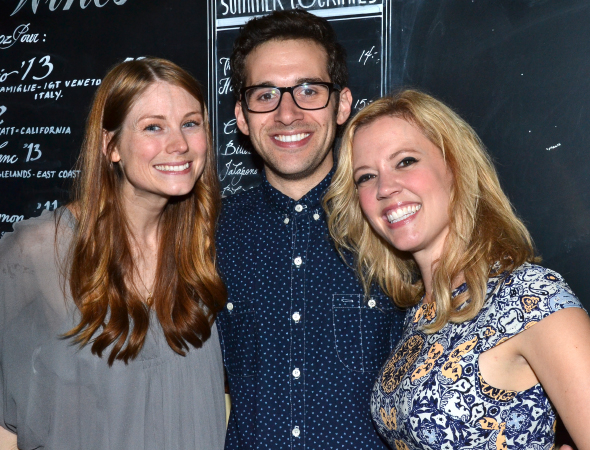<p>Allison Case, Adam Chanler-Berat, and Patti Murin lead the cast of <em>Fly by Night</em> off-Broadway.</p><br />(© David Gordon)