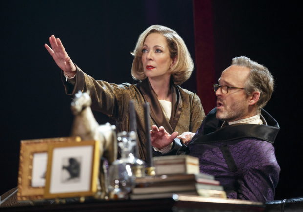 <p>Allison Janney and John Benjamin Hickey share the stage.</p><br />(© Joan Marcus)