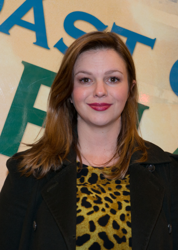 <p>Amber Tamblyn checks out the latest Lincoln Center Theater production.</p><br />(© Allison Stock)