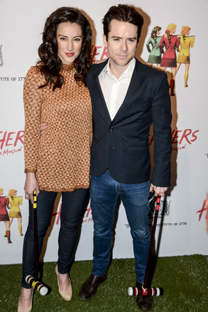 <p>America Olivo and Christian Campbell show their support for off-Broadway musicals.</p><br />(© Nessie Nankivell)