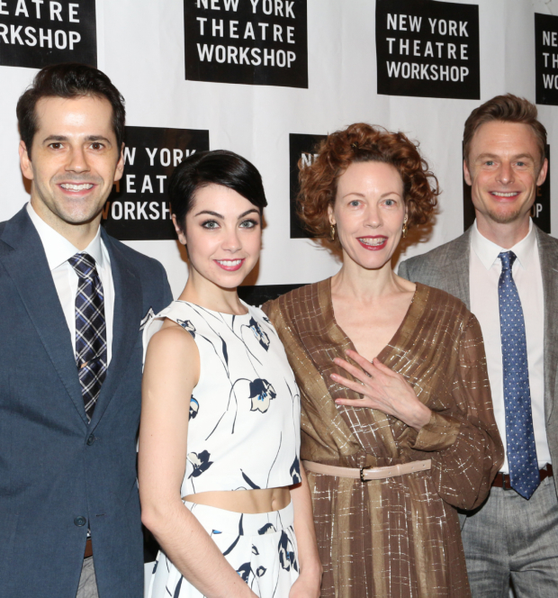 <p><em>An American in Paris</em> stars Robert Fairchild, Leanne Cope, and Veanne Cox, with director/choreographer Christopher Wheeldon, pay tribute to their scenic designer.</p><br />(© David Gordon)