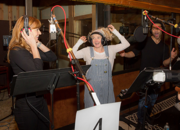 <p>An animated moment with Megan Sikora, Megan Lawrence, and Corbin Bleu.</p><br />(© Seth Walters)