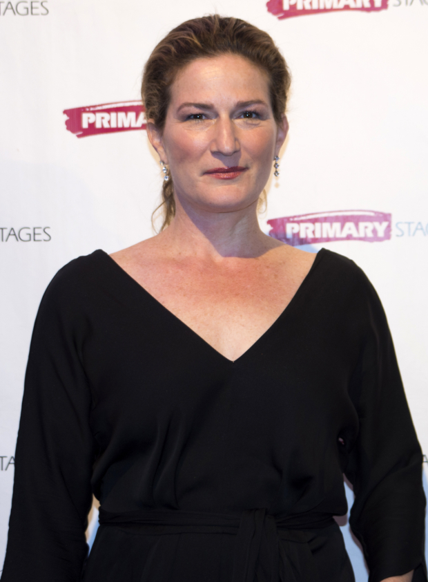 <p>Ana Gasteyer poses for photos as the gala gets under way.</p><br />(© Allison Stock)