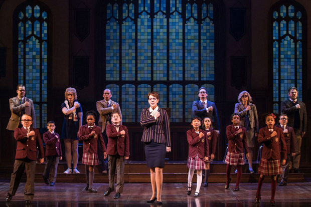 <p>Analisa Leaming (center) stars as Rosalie.</p><br />(© Matthew Murphy)
