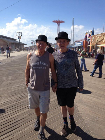 <p>&quot&#x3B;Auctioning our Coney souvenir T-shirts to benefit @CityHarvest&quot&#x3B;</p><br />(Photo via @SirPatStew)
