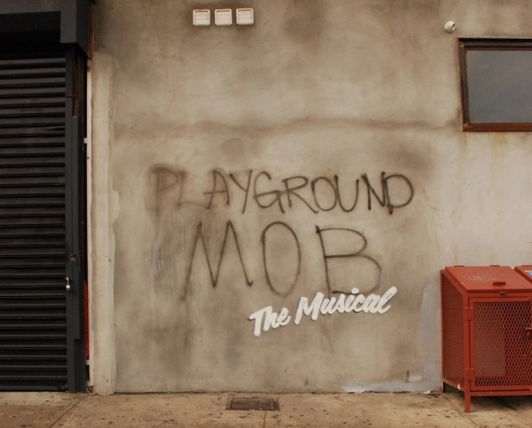 <p>&quot&#x3B;Playground Mob The Musical&quot&#x3B; was spotted in Brooklyn.</p><br />(© Banksy)