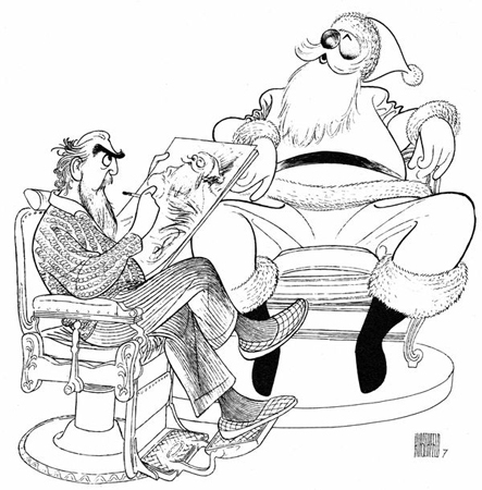 <p>&quot&#x3B;Hirschfeld Self Portrait With Santa Claus&quot&#x3B;<br/>