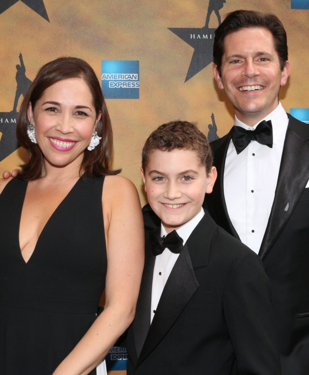 <p>Andréa Burns (seen here with her husband, Peter, and their son, Hudson) starred in Lin-Manuel Miranda&#39&#x3B;s last musical at the Richard Rodgers Theatre, <em>In the Heights</em>.</p><br />(© David Gordon)