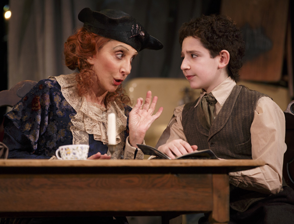 <p>Andrea Martin and Matthew Schechter take on the roles of Aunt Kate and young Moss Hart.</p><br />(© Joan Marcus)
