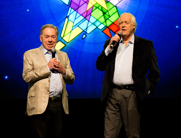 <p>Andrew Lloyd Webber and Tim Rice take the stage to welcome the crowd.</p><br />(© David Gordon)