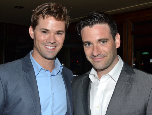 <p>Andrew Rannells and Colin Donnell were on hand to represent the Patti Murin cheering section.</p><br />(© David Gordon)