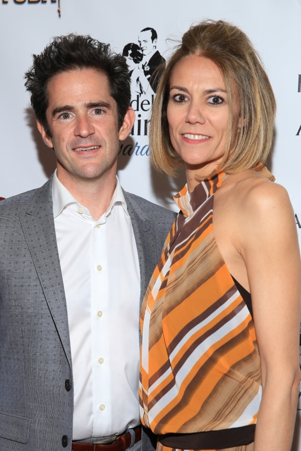 <p>Andy and Elly Blankenbuehler celebrate his win for his <em>Hamilton</em> choreography.</p><br />(© Tricia Baron)