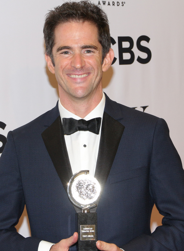 <p>Andy Blankenbuehler, Best Choreography winner for <em>Hamilton</em>.</p><br />(© David Gordon)