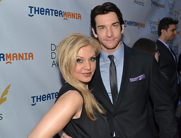 <p>Andy Karl, nominee for Broadway&#39&#x3B;s <em>Rocky</em>, with his wife, Orfeh.</p><br />(© David Gordon)