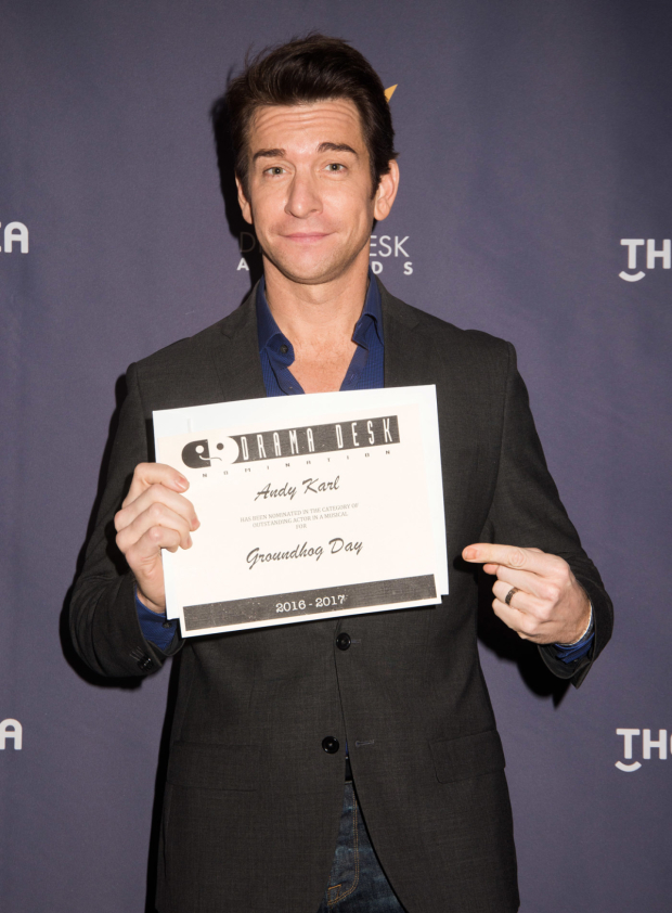 <p>Andy Karl, nominee for <em>Groundhog Day</em>.</p><br />(© Monica Simoes)