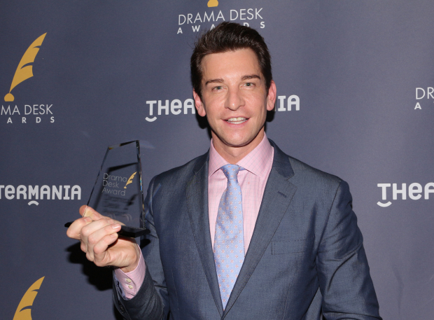 <p>Andy Karl, Outstanding Actor in a Musical recipient for <em>Groundhog Day</em>.</p><br />(© David Gordon)