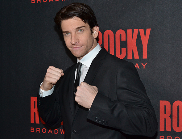 <p>Andy Karl shows off his million-dollar fists.</p><br />(© David Gordon)