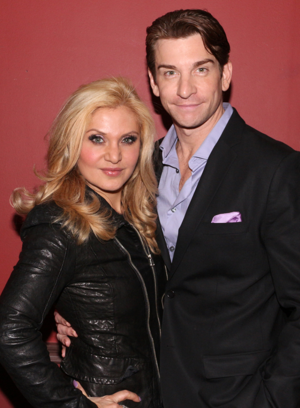 <p>Andy Karl (with his wife, Orfeh) — Outstanding Featured Actor in a Musical for <em>On the Twentieth Century</em></p><br />(© David Gordon)