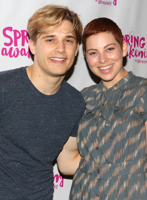 <p>Andy Mientus and Krysta Rodriguez are both <em>Spring Awakening</em> veterans who are now playing the roles of Hanschen and Ilse.</p><br />(© David Gordon)