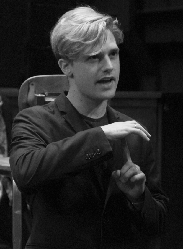 <p>Andy Mientus (Hanschen) performs the show&#39&#x3B;s closing number, &quot&#x3B;The Song of Purple Summer.&quot&#x3B;</p><br />(© David Gordon)