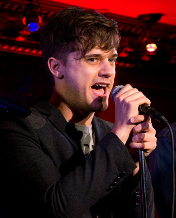 "<p>Andy Mientus takes to the stage on the tune ""Calling Out My Name.""</p><br />(© David Gordon)"