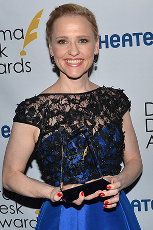 <p>Anika Larsen — Outstanding Featured Actress in a Musical winner for <em>Beautiful — The Carole King Musical</em>.</p><br />(© David Gordon)