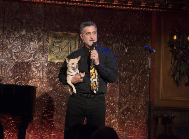 <p>Animal trainer extraordinaire Bill Berloni takes the stage with Chico.</p><br />(© Allison Stock)