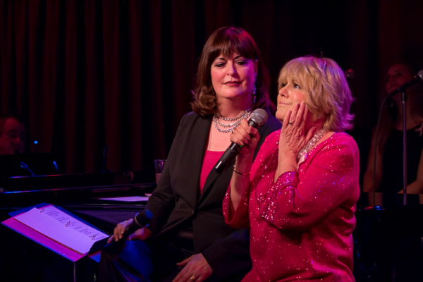 <p>Ann Hampton Callaway and Lorna Luft sing the classic &quot&#x3B;Get Happy/Hooray for Love&quot&#x3B; medley.</p><br />(©Seth Walters)