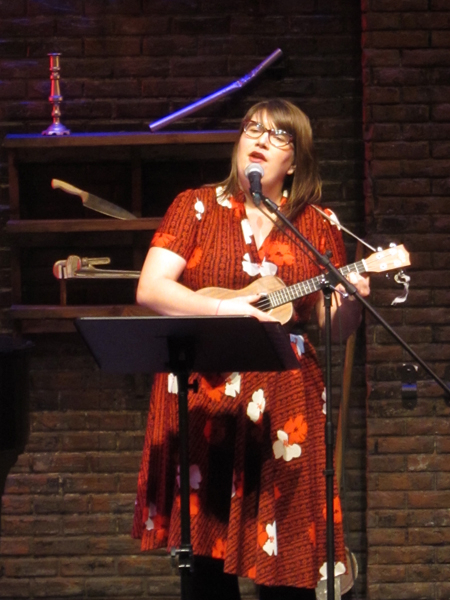 <p>Anna Marquardt performs a ditty on the ukulele. </p><br />(© Colgan McNeil)
