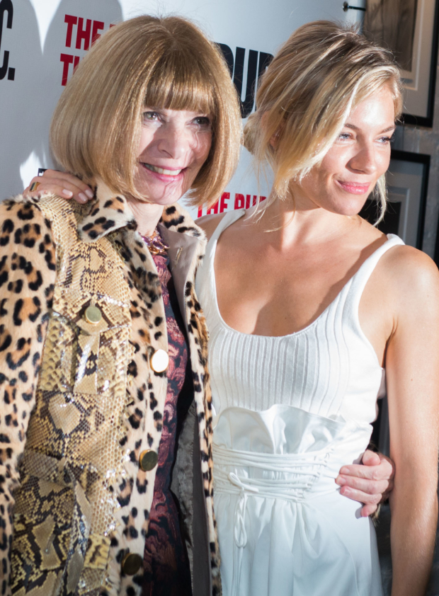 <p>Anna Wintour and Sienna Miller were also on hand for the show.</p><br />(© Allison Stock)