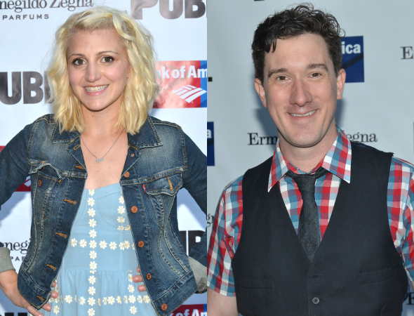 <p>Annaleigh Ashford and Carson Elrod show off their summery attire.</p><br />(© David Gordon)
