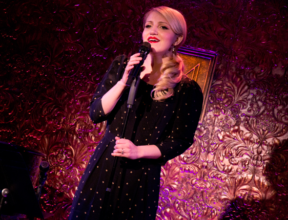 <p>Annaleigh Ashford serenades the audience with Stephen Sondheim&#39&#x3B;s &quot&#x3B;Another Hundred People.&quot&#x3B;</p><br />(© David Gordon)