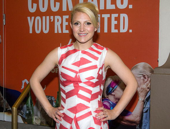 <p>Annaleigh Ashford works the red carpet before the show.</p><br />(© Seth Walters)