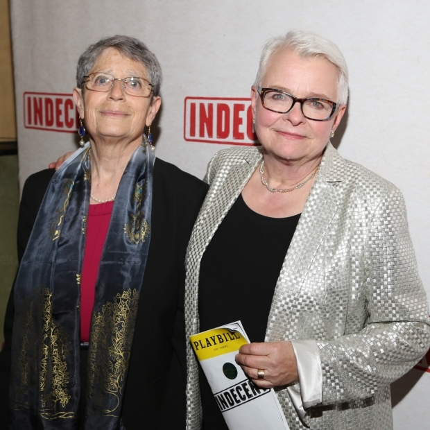 <p>Anne Fausto-Sterling and Paula Vogel posed for photos.</p><br />(© Tricia Baron)