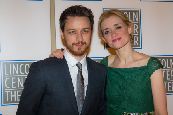 <p>Anne-Marie Duff, who plays Lady Macbeth, poses with her husband, James McAvoy.</p><br />(© Seth Walters)
